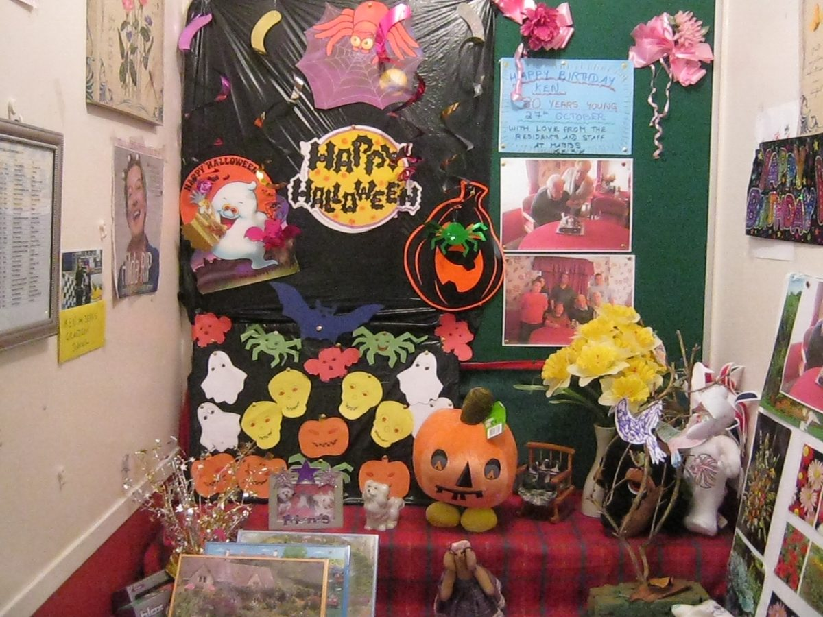 The spooky corner at Mabbs Hall for Halloween 2016