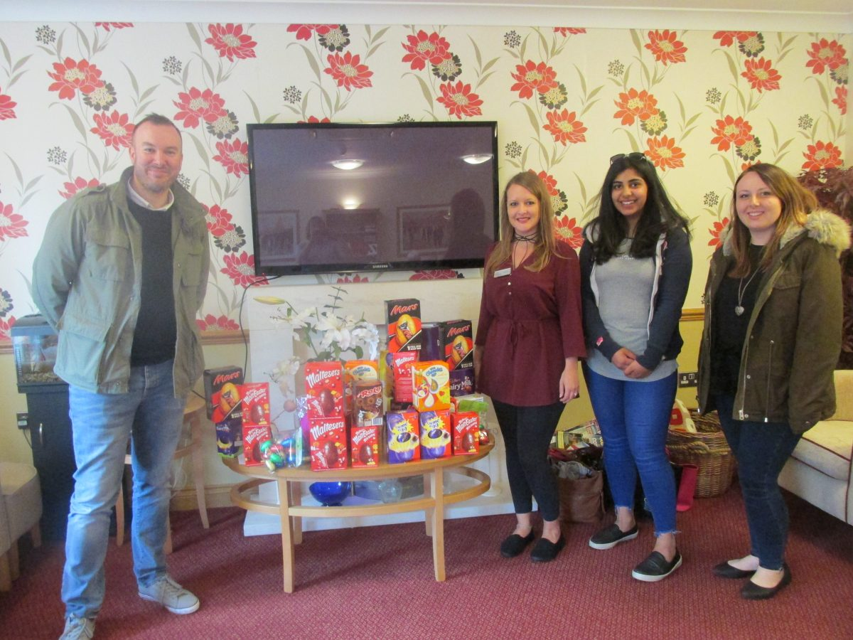 DONATION OF EASTER EGGS FROM COVENTRY BUILDING SOCIETY
