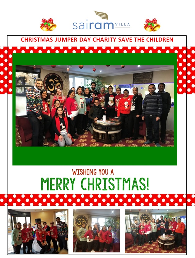 Christmas Jumper Day 2019 Save The Children.Christmas Jumper Day 2018 At Sai Ram Villa Angelcare Plc