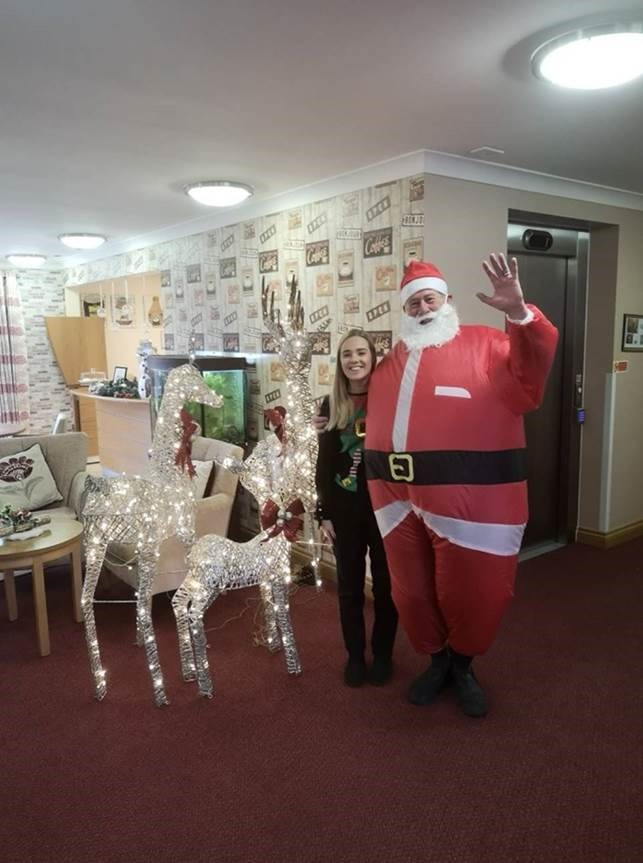 Father Christmas visits Orchid Care home in Swindon